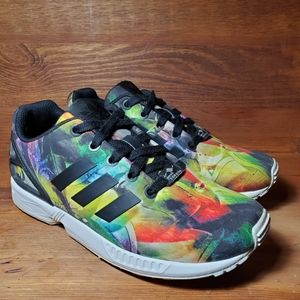 Adidas Girls Multicolored Sneakers.  Sz 3.5